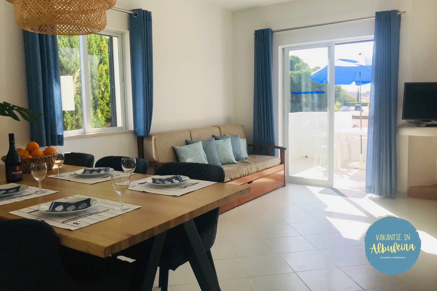 Woonkamer appartement 390 Clube Albufeira
